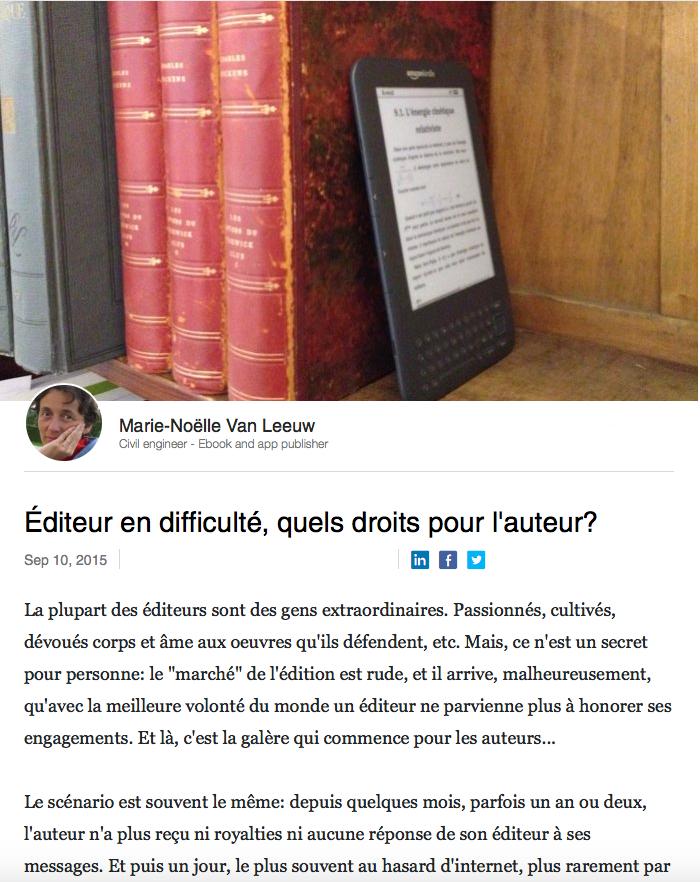 Editeur en difficulté, quels droits pour l'auteur?