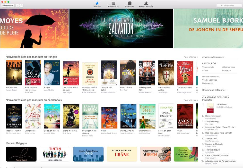 page d'accueil de l'iBooks Store