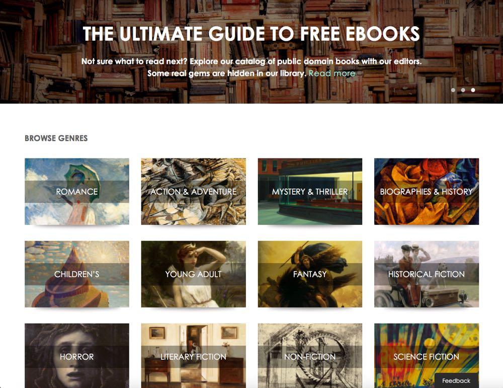 Page d'accueil de manybooks.net