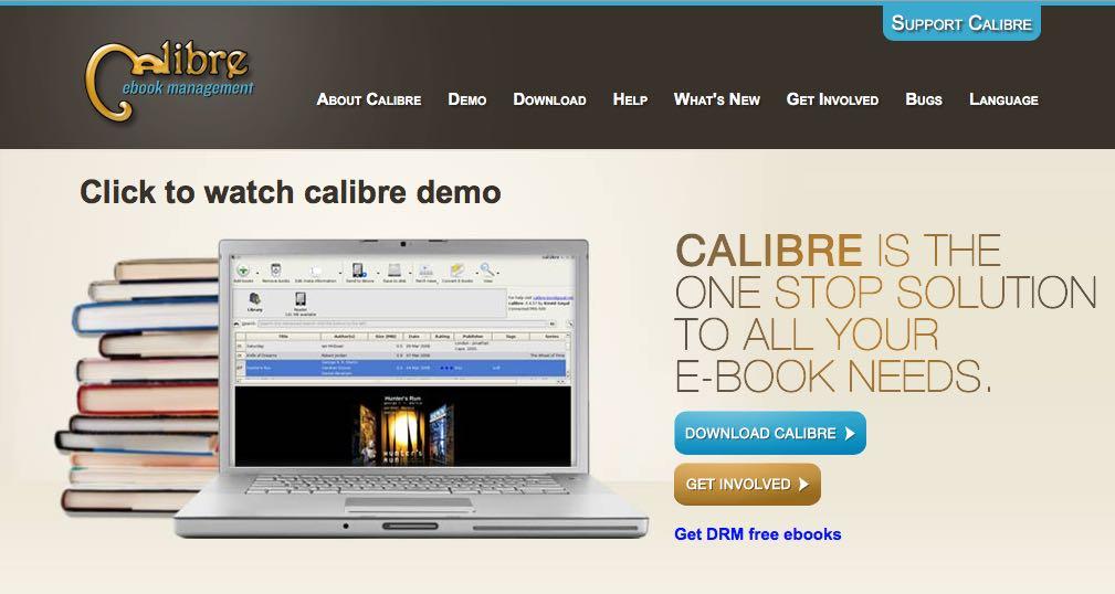 présentation de Calibre, logiciel de conversion d'ebooks