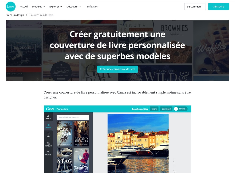 canva page d'accueil