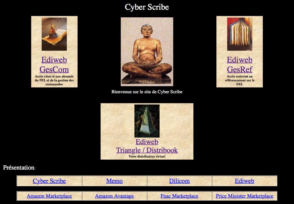 page d'accueil de cyberscribe