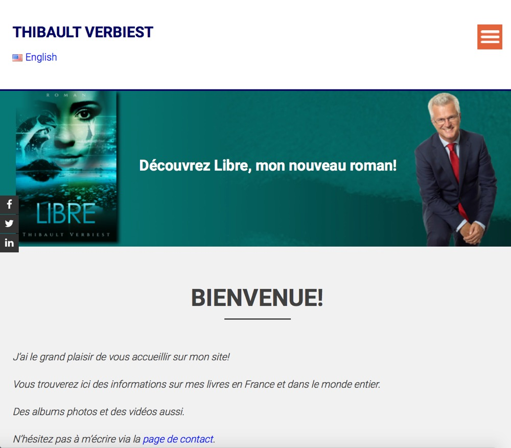 website d'auteur Thibault Verbiest