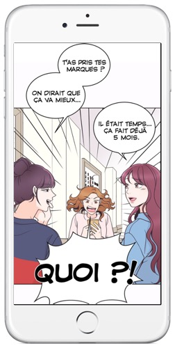 exemple de webtoon d'Izneo
