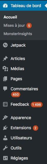 WordPress spam et mises à jour