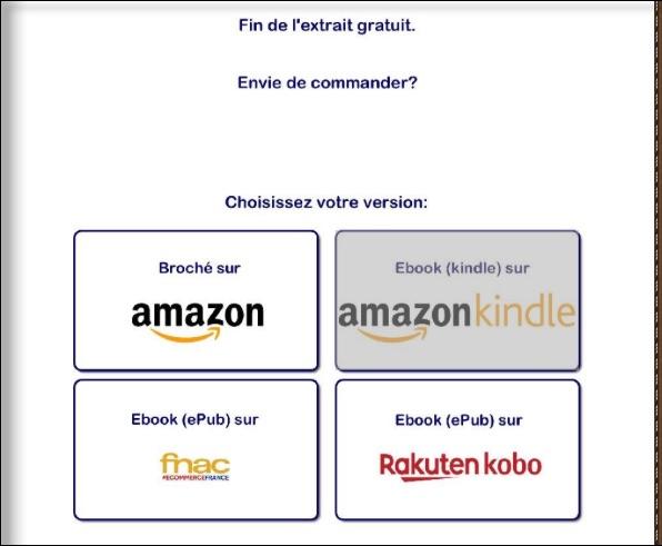 flipbook hyperliens vers les différentes versions des livres