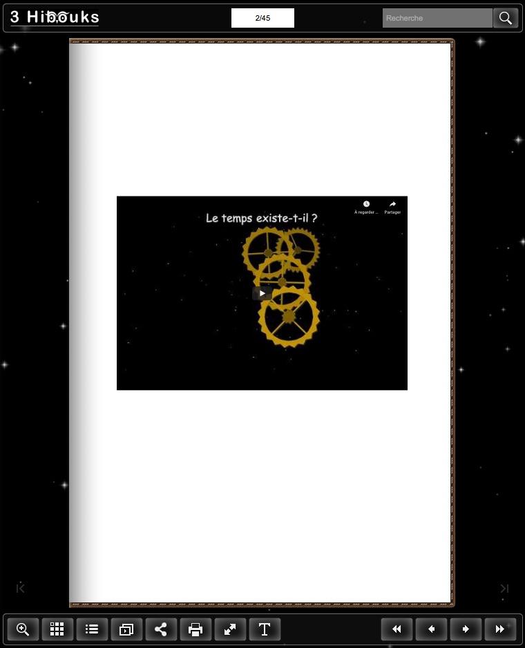 vidéo dans un flipbook