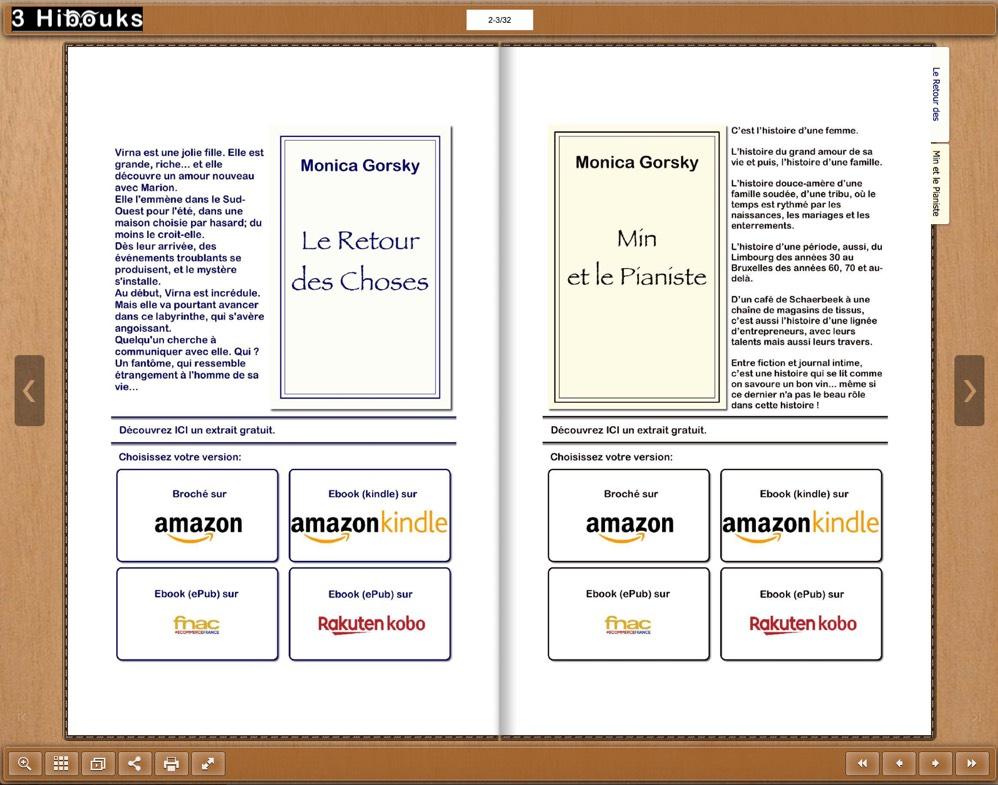 website d'auteur flipbook